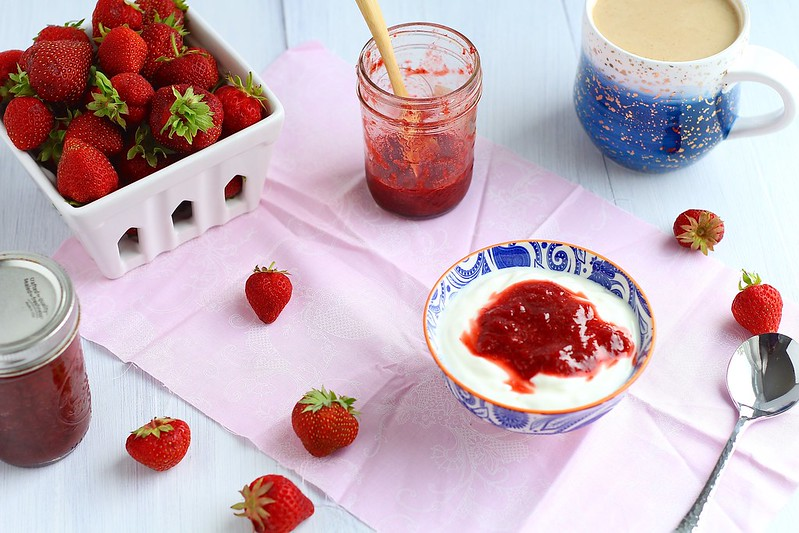 strawberry vanilla honey sauce