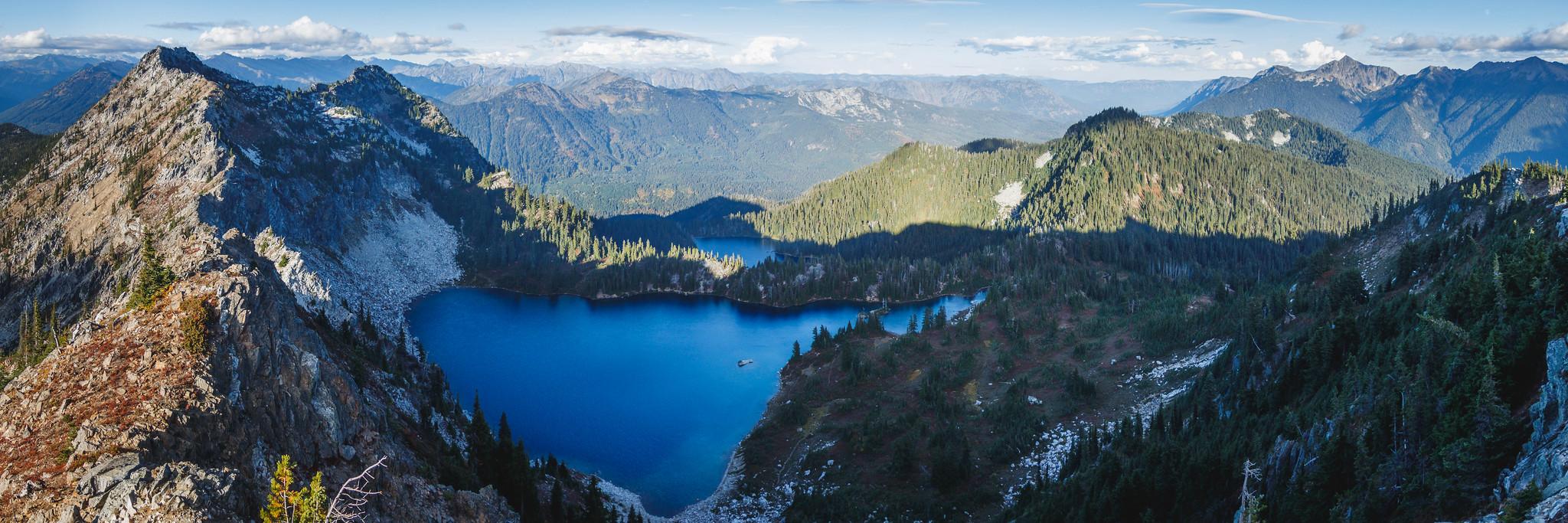 Lake basins panoramic view from Minotaur