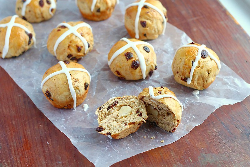 Rum Raisin Hot Cross Buns