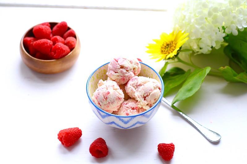 Marzipan Raspberry Swirl Gelato