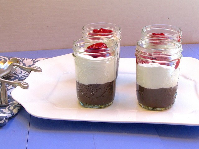 ilk Chocolate Pudding with Raspberry Sauce