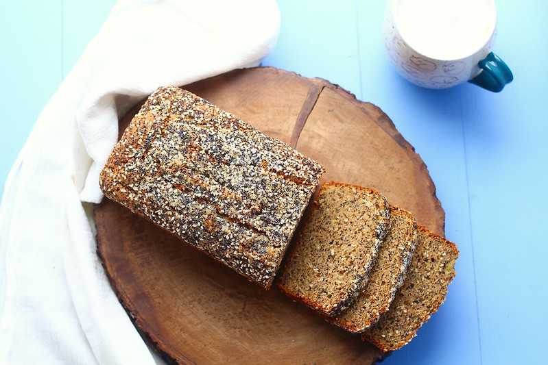 seeded whole wheat banana bread