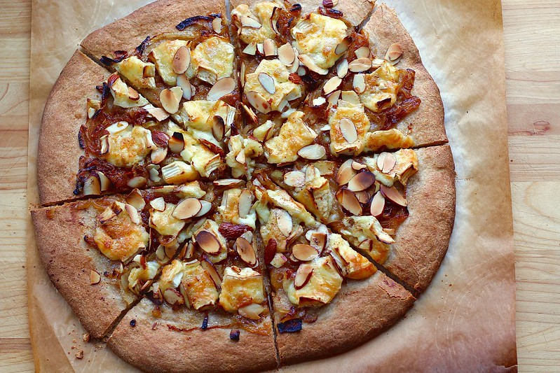 Caramelized Onion and Brie Pizza
