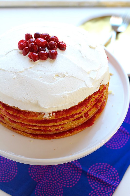 Cranberry Pear Stack Cake
