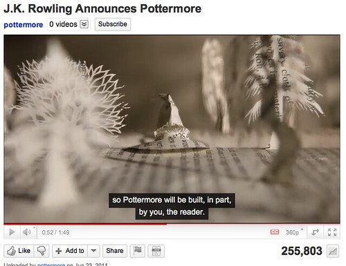 More user created Harry Potter in Pottermore - Coming in October 2011