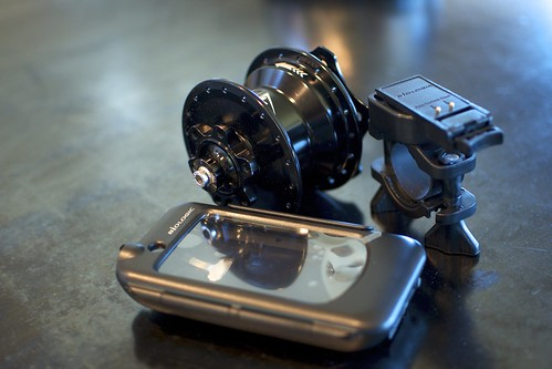 Biologic ReeCharge Case for iPhone, mount, and Dynamo Hub