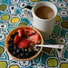 yogurt, berries, coffee