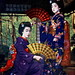 Two Maiko Girls with Maiogi 1910s by Blue Ruin 1