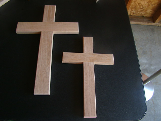 Large Unfinished Wooden Crosses
