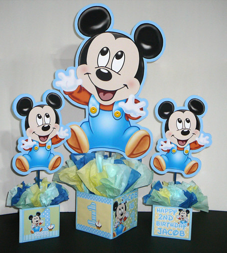 Baby mickey mouse baby shower decorations best baby for Baby mickey decoration ideas