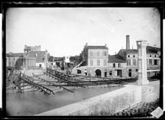 Inondations de 1875, le pont Saint-Michel détruit