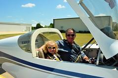Callen going for a quick flight with Papa Stewart