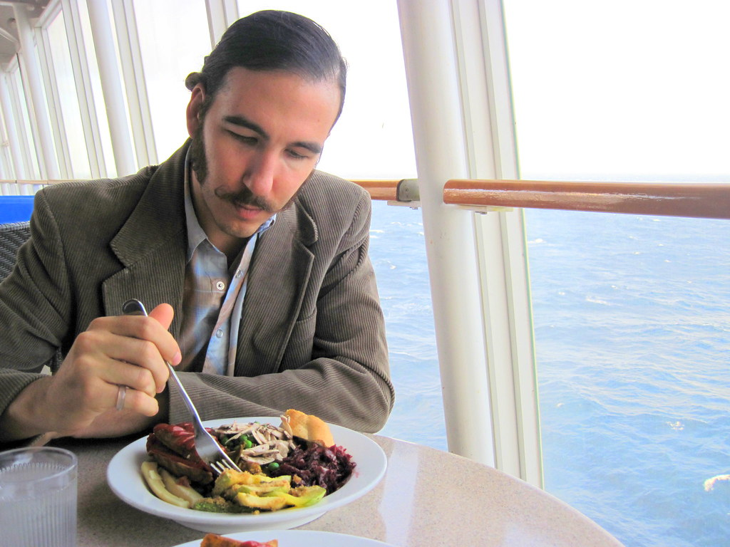 A meal at sea (healthy vegan cruise food?)