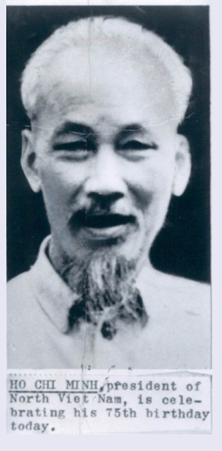 1965 Vietnam Marxist Leader Ho Chi Minh Press Photo