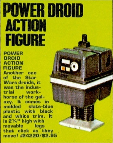 Star Wars Power Droid action figure 1978 ad