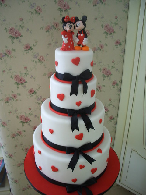miki-mini mouse wedding cake | Flickr - Photo Sharing!