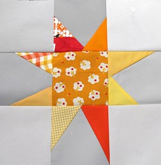 wonky star baby quilt block 2