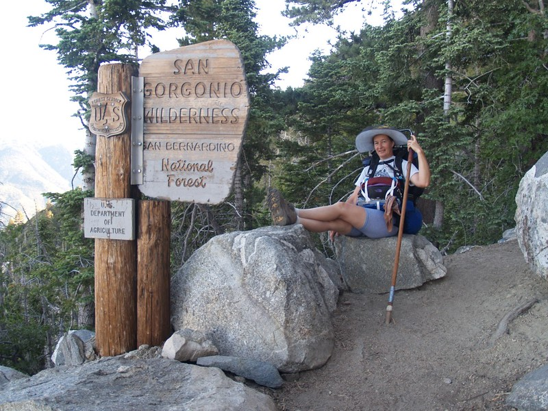 San Gorgonio Wilderness Boundary Sign