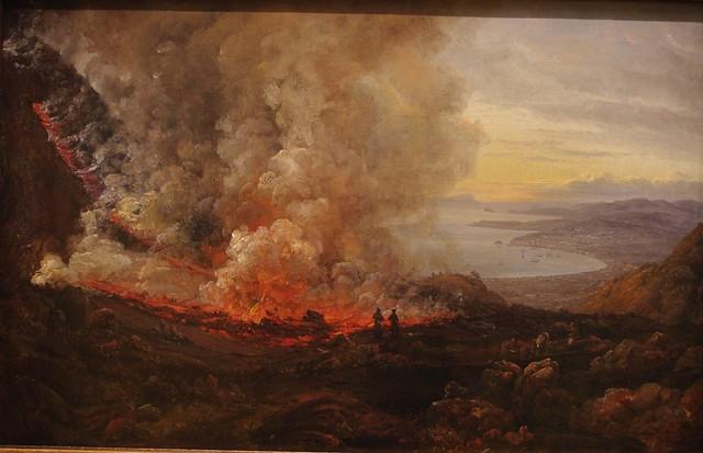 L'éruption du Vésuve, par Johan Christian Dahl (1820)