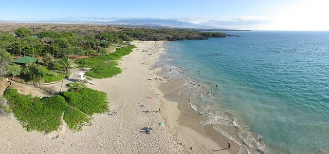 Hapuna Beach State Park and Hualalai Panorama