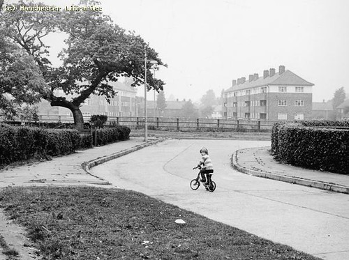 Child on Bike in Wythenshawe, 1972