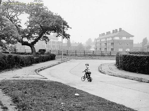 Child on Bike in Wythenshawe, 1972