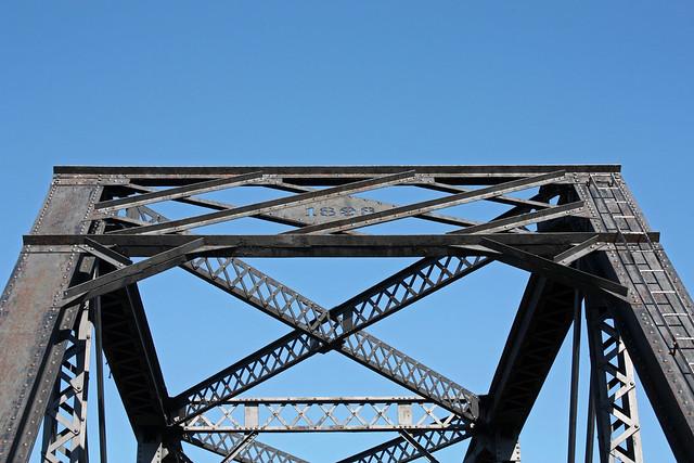 Oregon California and Eastern railroad bridge over A Canal.  Klamath Falls Oregon, July 29 2011.