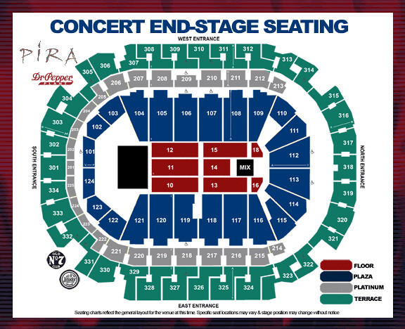 American Airlines Center Concert Seating Chart Flickr