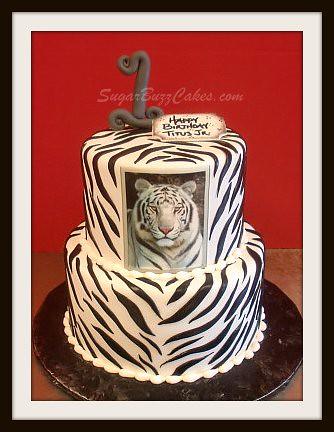 White Tiger birthday cake   Flickr - Photo Sharing!