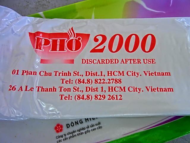 """Restaurant """"PHO 2000"""" - Ho Chi Minh, Vietnam"""