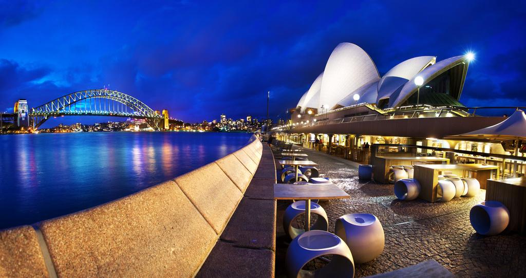 Reštaurácia Opera bar, Sydney, Austrália