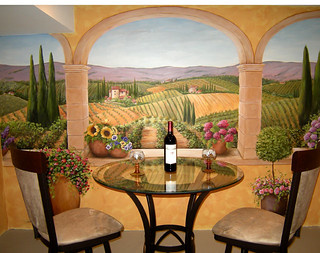 Tuscan Terrace & Vineyard Mural