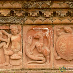Terracotta Tiles at Paharpur - Bangladesh