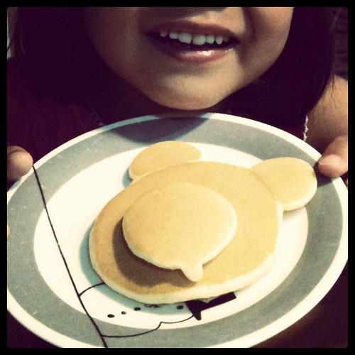 くまさんホットケーキ焼いた Made Bear pancake