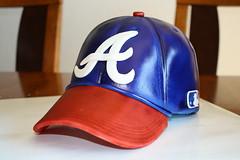 Braves baseball hat cake  42f6a04c527f