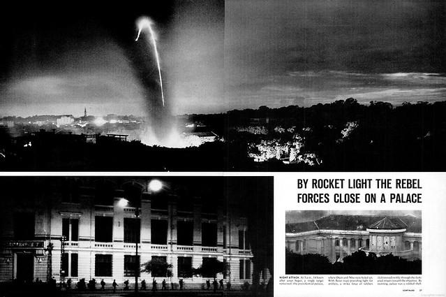 LIFE Magazine NOVEMBER 15, 1963 (3) - Trong ánh sáng của hỏa tiễn, quân đảo chánh tiến tới dinh tổng thống