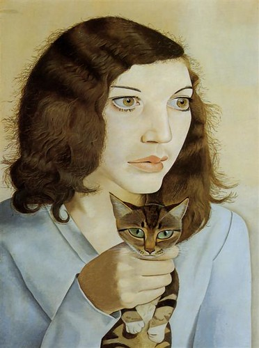 Girl with a kitten, 1947- Lucian Freud (1922 - 2011)