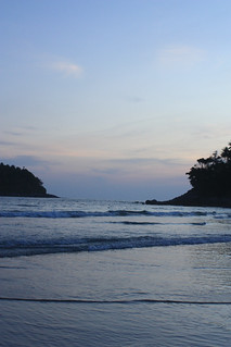 Image of Kata Yai Beach near Ban Karon. sunset seascape beach thailand phuket