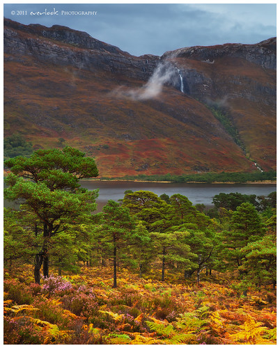 autumn cloud mist colour leaves forest landscape photography scotland waterfall loch dee maree slioch torridon everlook