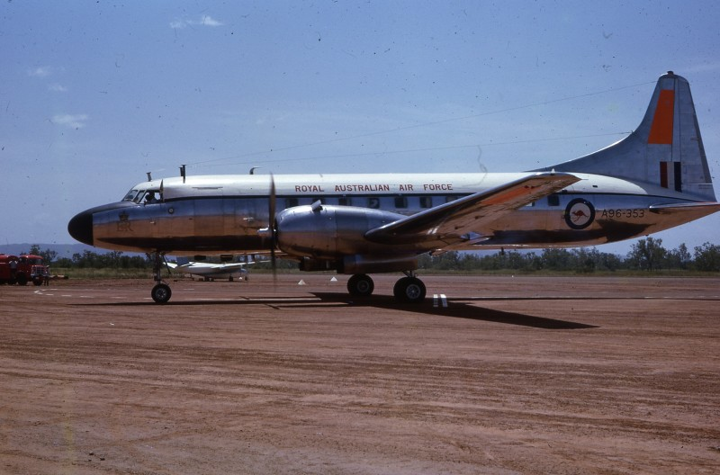 1963-03-17 - RAAF Convair Aircraft at Kununurra Airstrip (KNX), carrying the Royal Tour party.