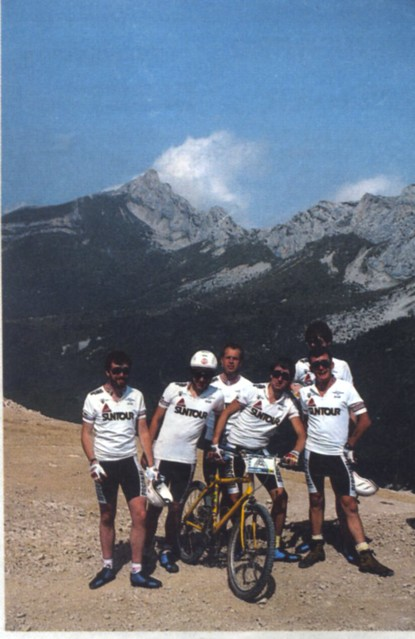 Part of the British MTB team 1987