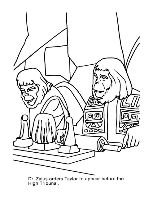Planet of the Apes Coloring Book 0100049