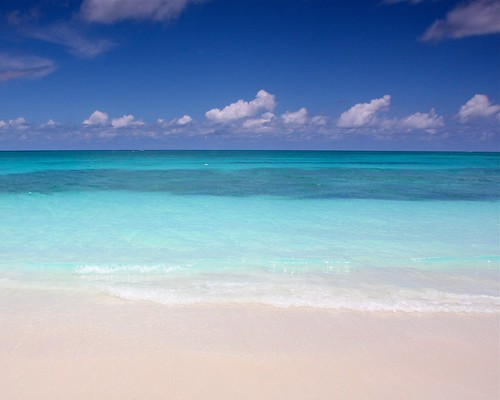 sea white beach beautiful turquoise turks caicos snad