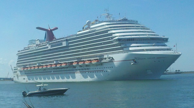 Cruise Ship Carnival Dream Leaving Port Canaveral
