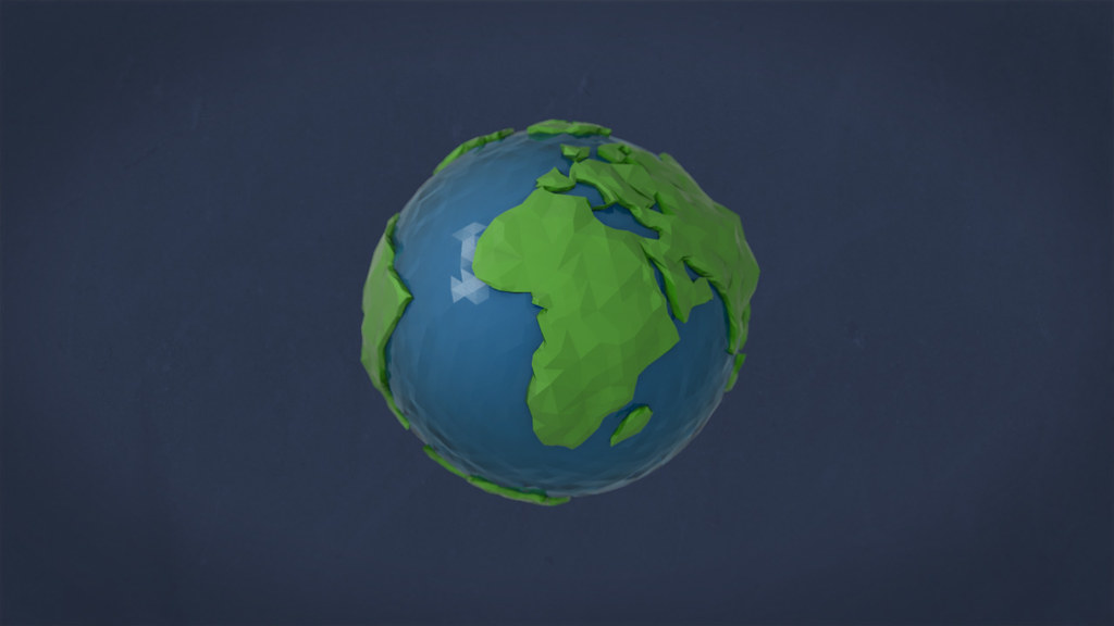 Earth, abstract, Erde, Ocean, Meere, Lowpoly
