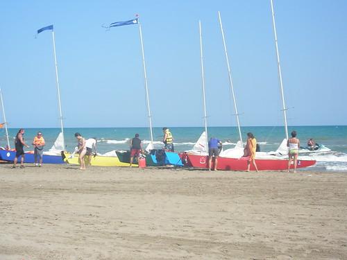 Travessa Alcanar-Calafell 2011. Dinar a l'Illa de Buda. 30 de juliol 2011.