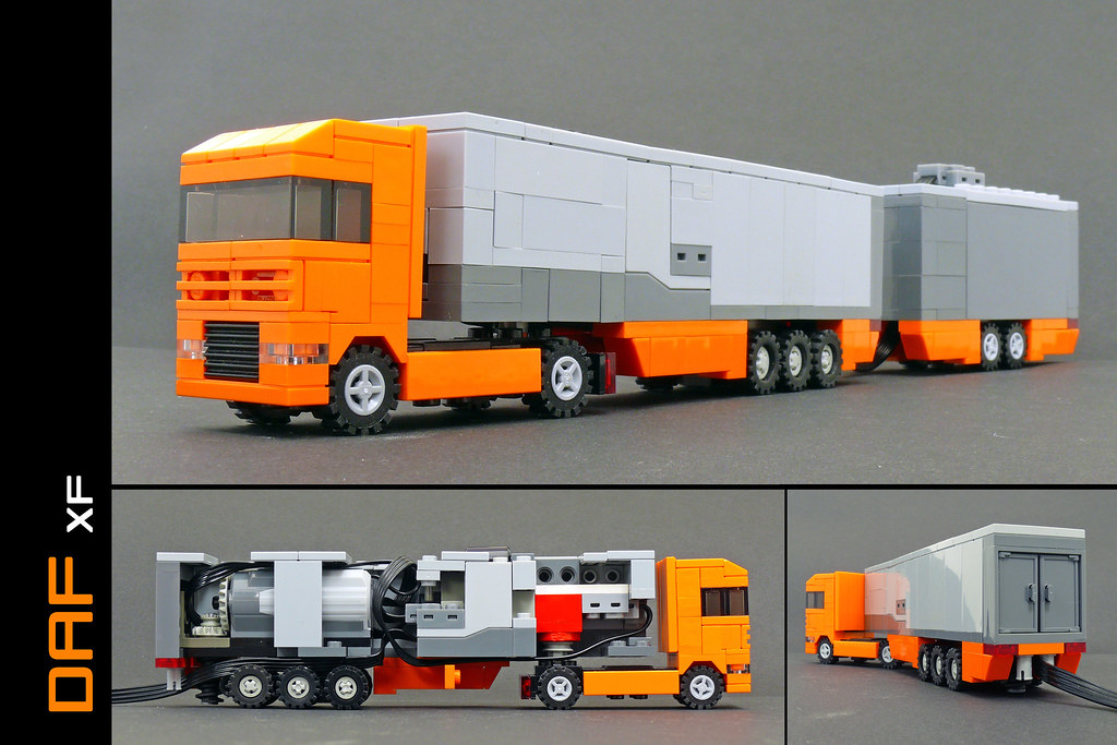 Remote controlled DAF XF with EuroCombi trailer