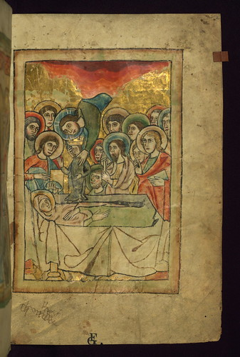 Psalter, Death of the Virgin, Walters Manuscript W.78, fol. 2r by Walters Art Museum Illuminated Manuscripts