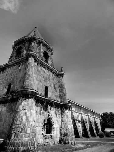 Miag-ao Church Bellfry in BW