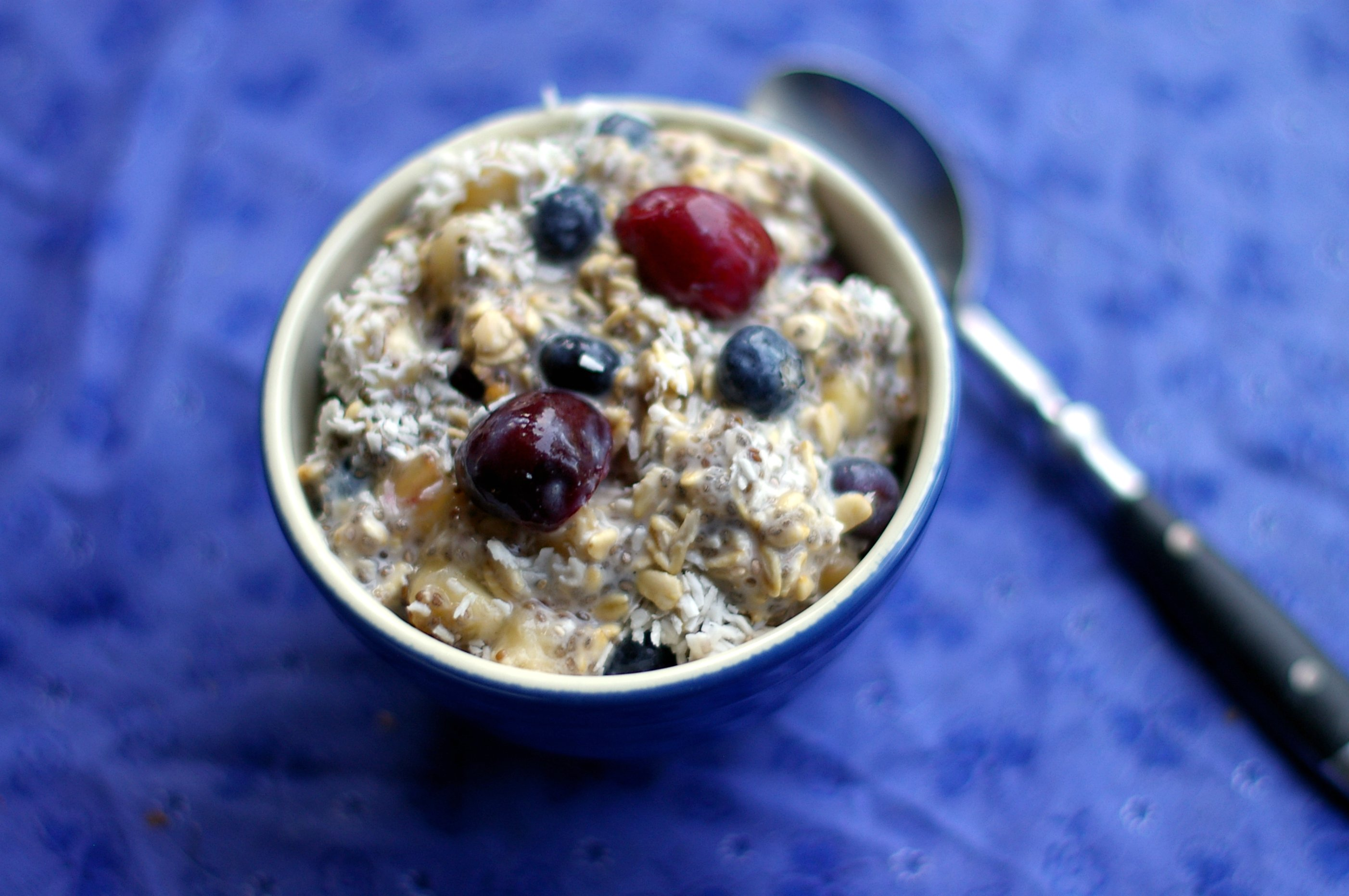 Red White and Blue Vegan Overnight Oats | Flickr - Photo Sharing!
